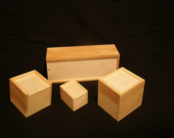 Variety of Custom Wood Boxes with Sliding Tops