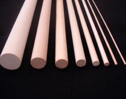 wood dowels in many sizes