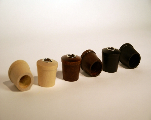 Custom Wood turnings made into Threaded Diffuser Caps